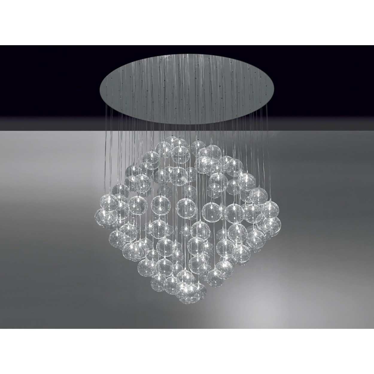 CUSTOM SIZE BULLES SUSPENSION LAMP