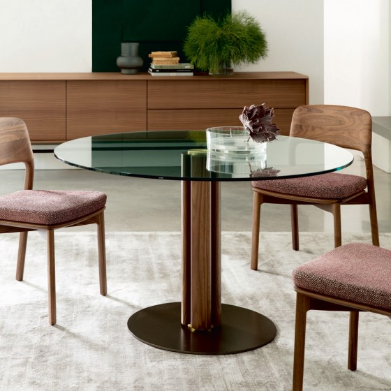 Quadrifoglio Crystal Tondo 1 Table