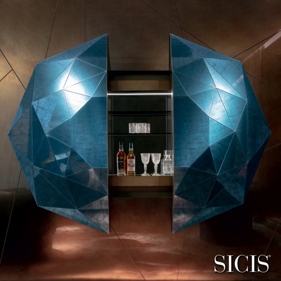 Diamante Bar Cabinet