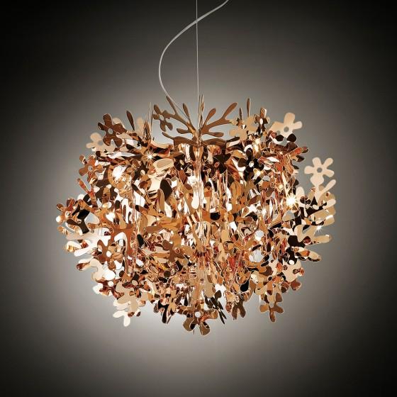 Fiorella Gold, Silver and Copper Suspension Lamp