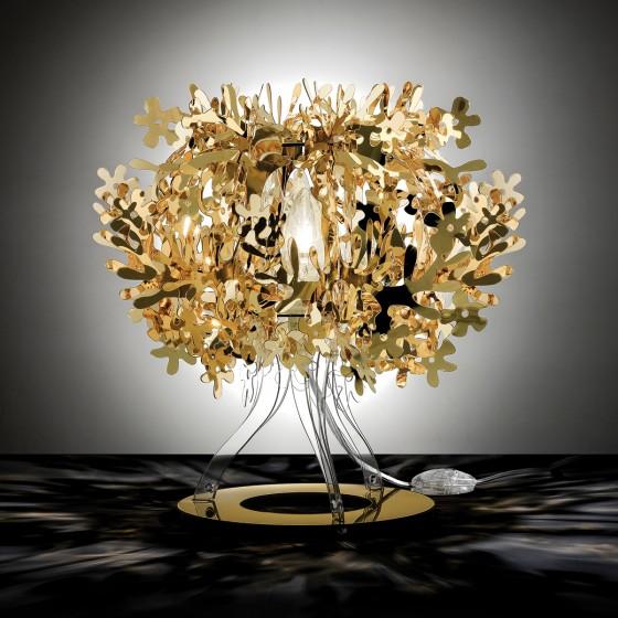 Fiorellina Gold, Silver and Copper Table Lamp