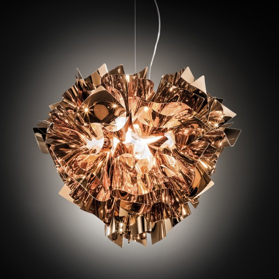 Veli Gold, Silver and Copper Suspension Lamp