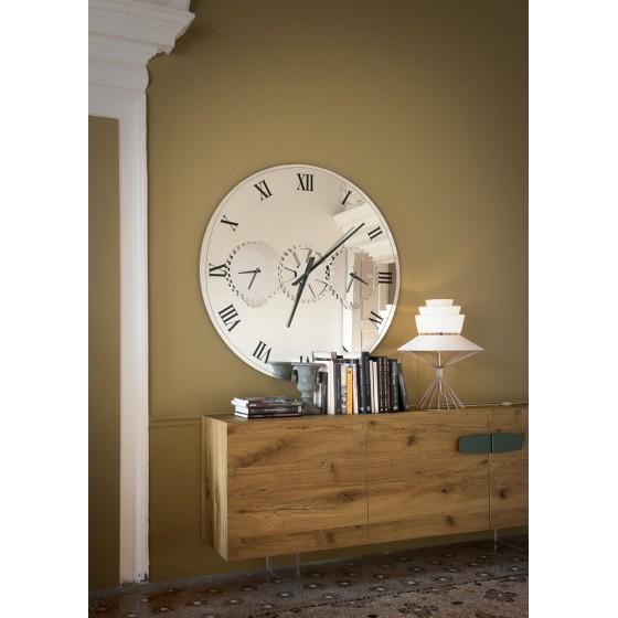Contemporary Italian Designer Times Mirror/Clock - Italian Designer ...