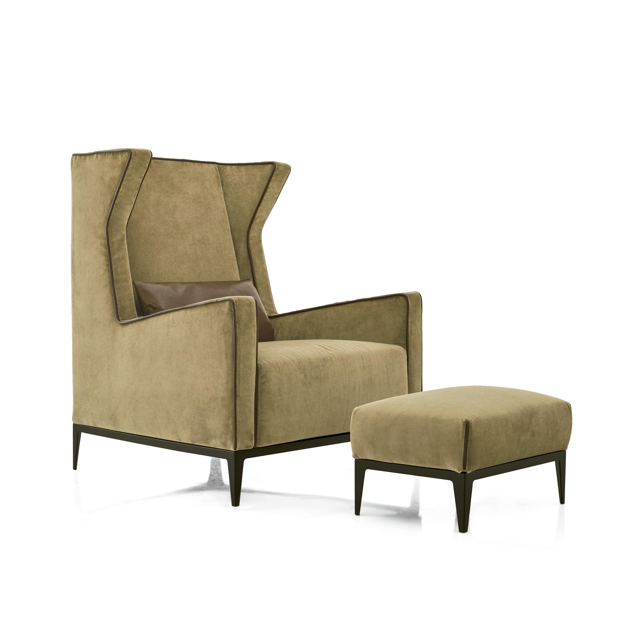 Luxury Italian Goldfinger Lounge Chair Italian Designer