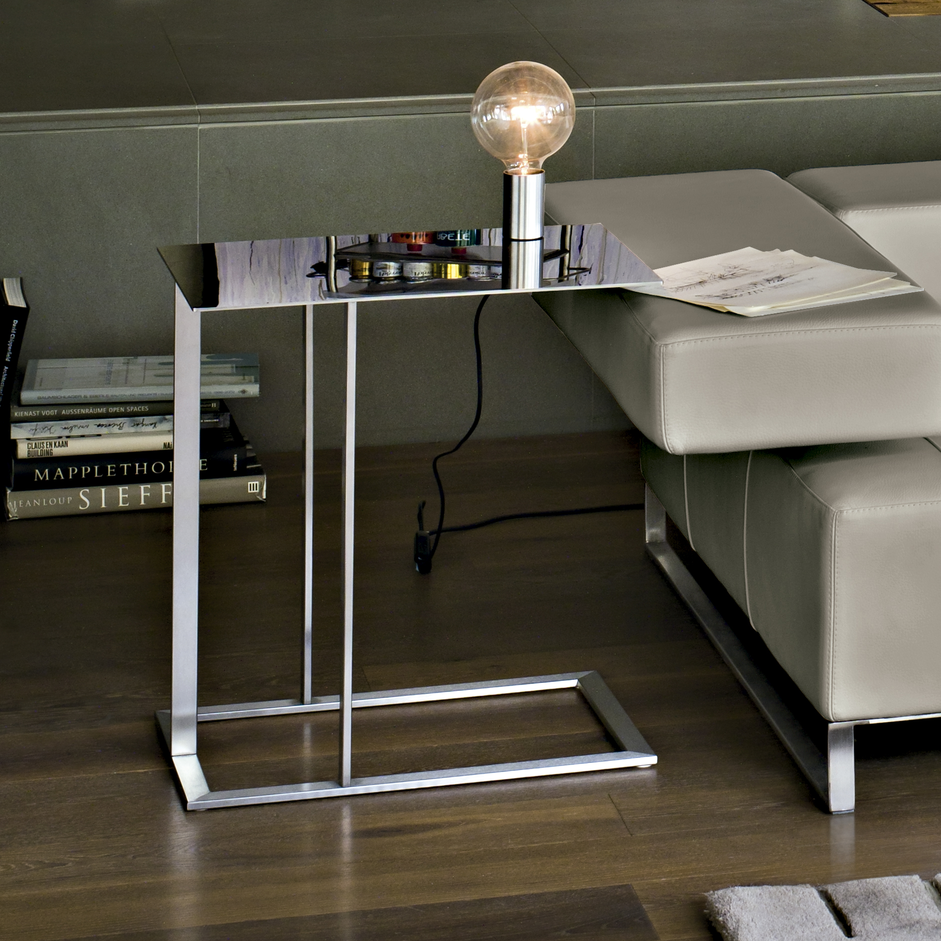 Italian Designer Loft Side Table Italian Designer & Luxury