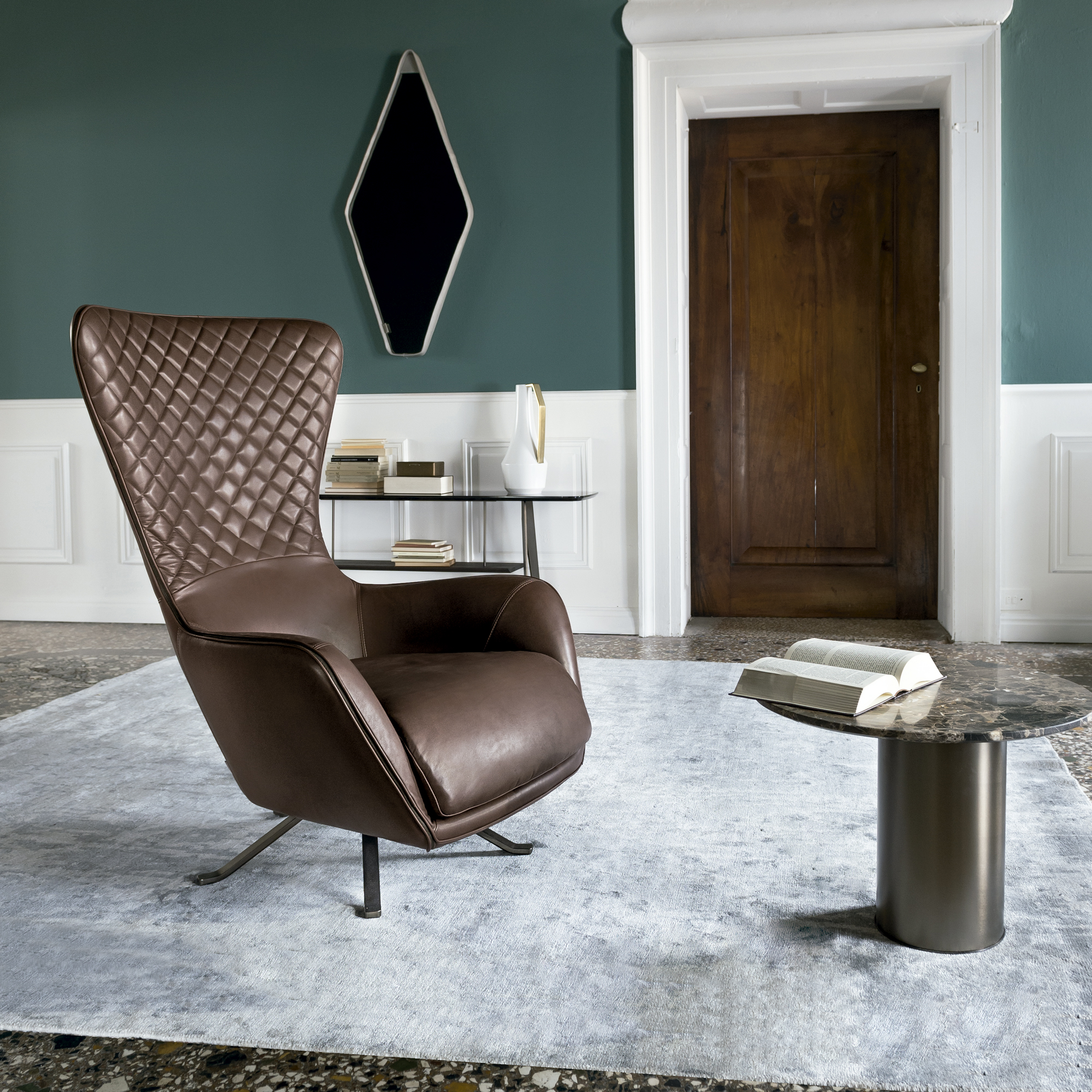 Contemporary Luxury Italian Sin Seaty Lounge Chair