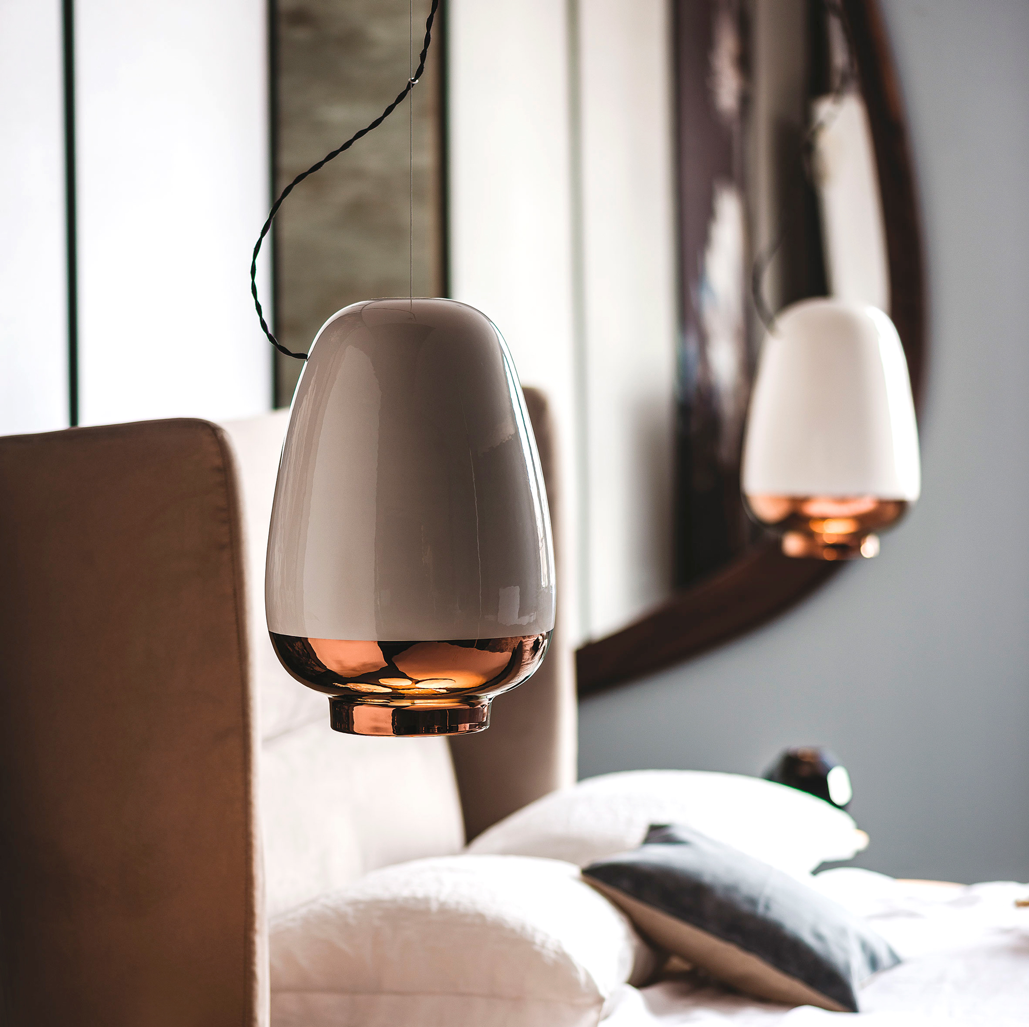 contemporary italian designer asia suspension lamp italian designer luxury furniture at cassoni. Black Bedroom Furniture Sets. Home Design Ideas