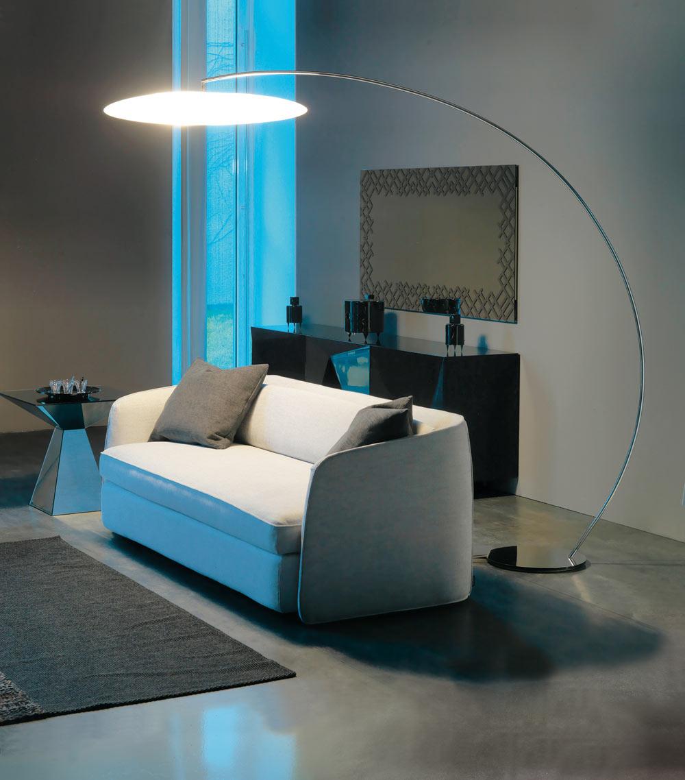 Unique white floor lamps - Astra Arc Floor Lamp