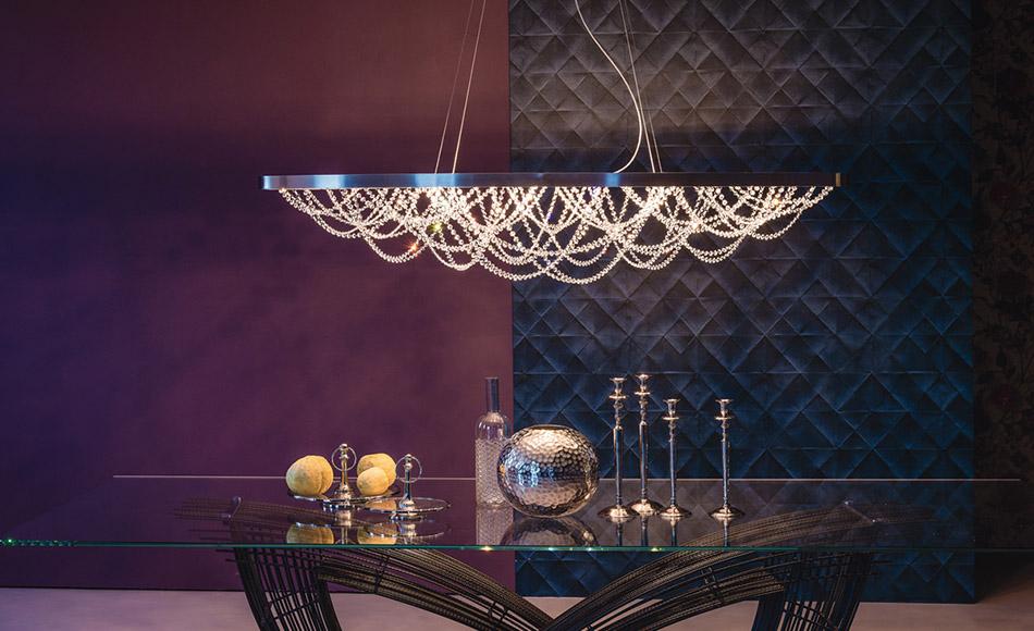 luxury italian designer cristal suspension lamp italian designer luxury furniture by cassoni. Black Bedroom Furniture Sets. Home Design Ideas