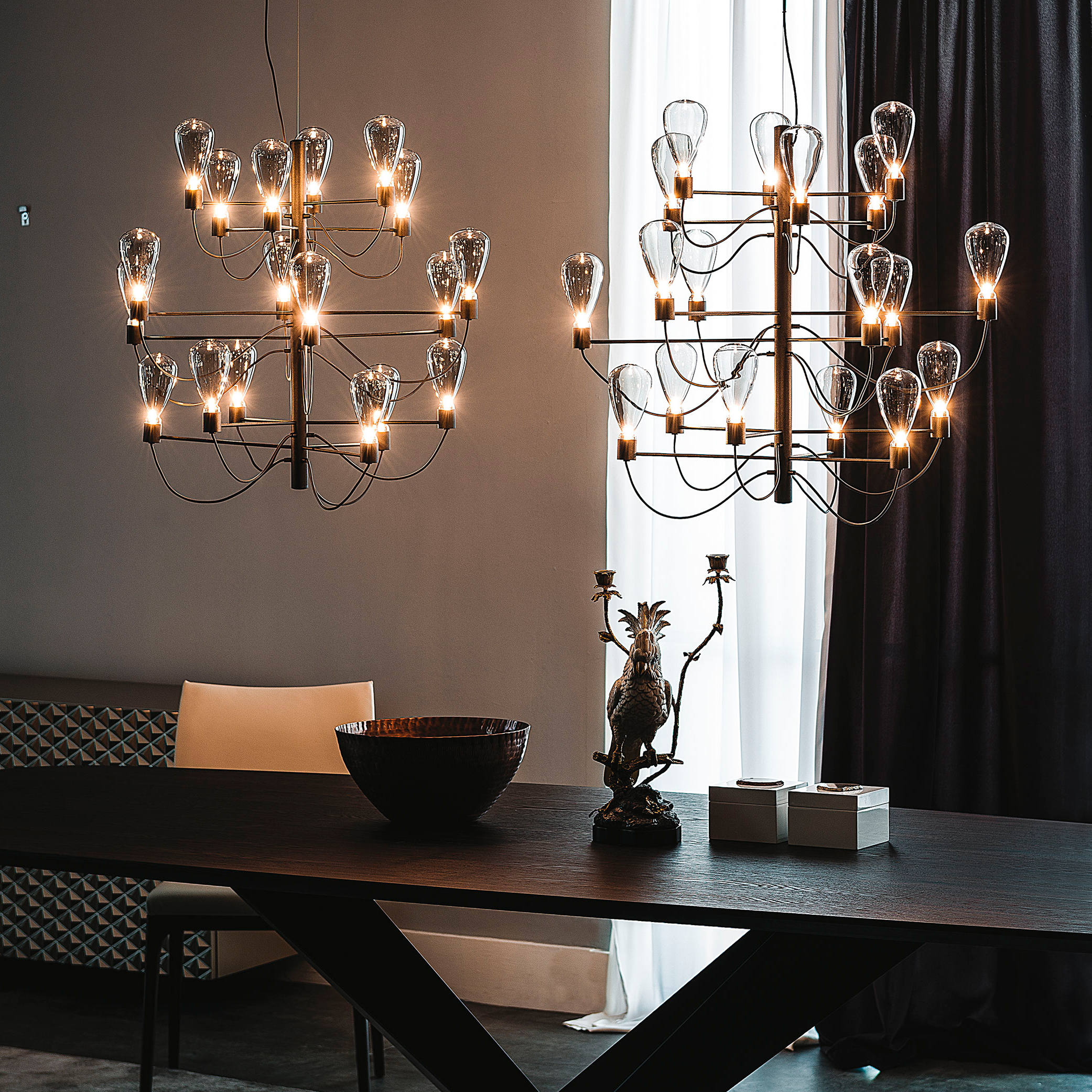 Italian Designer Poseidon Chandelier