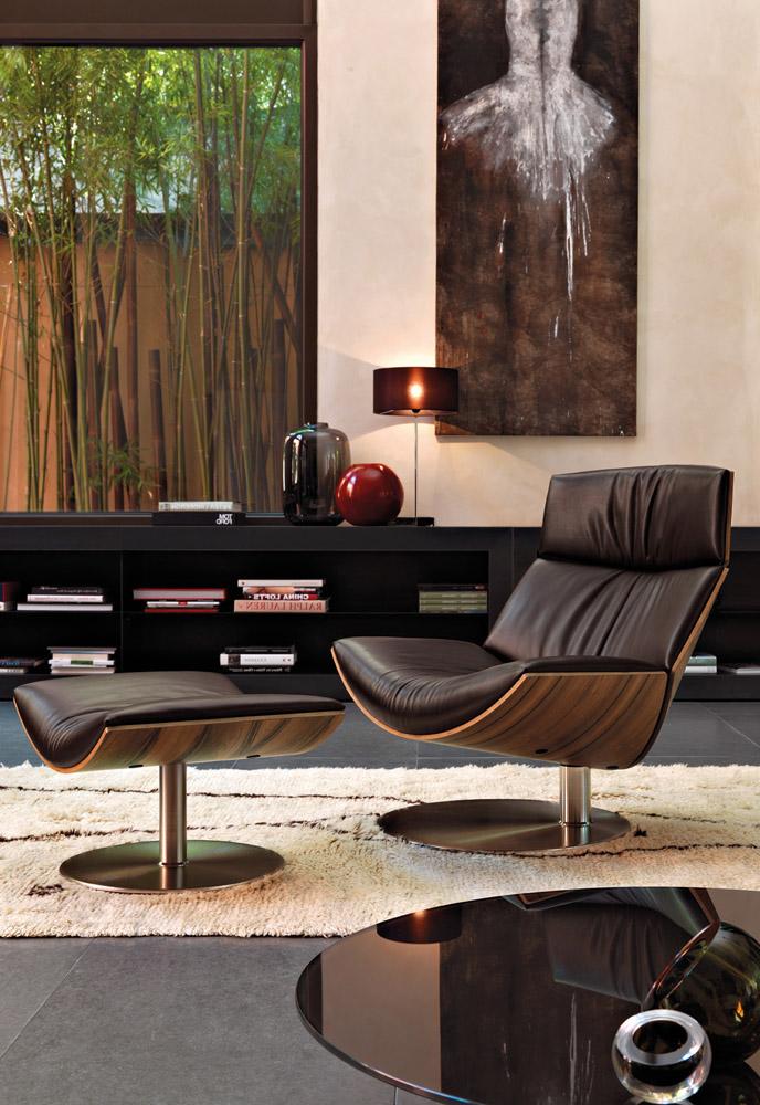 Kara Luxury Italian Contemporary Lounge Chair Italian