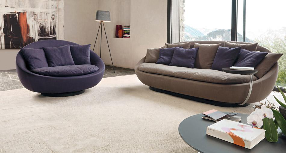 Lacoon elegant contemporary italian lounge chair italian - Divani per piccoli spazi ...
