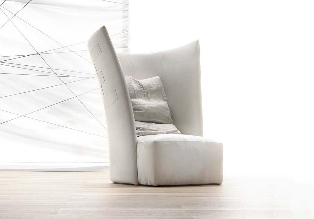 Contemporary Italian Designer Red Baron Lounge Chair