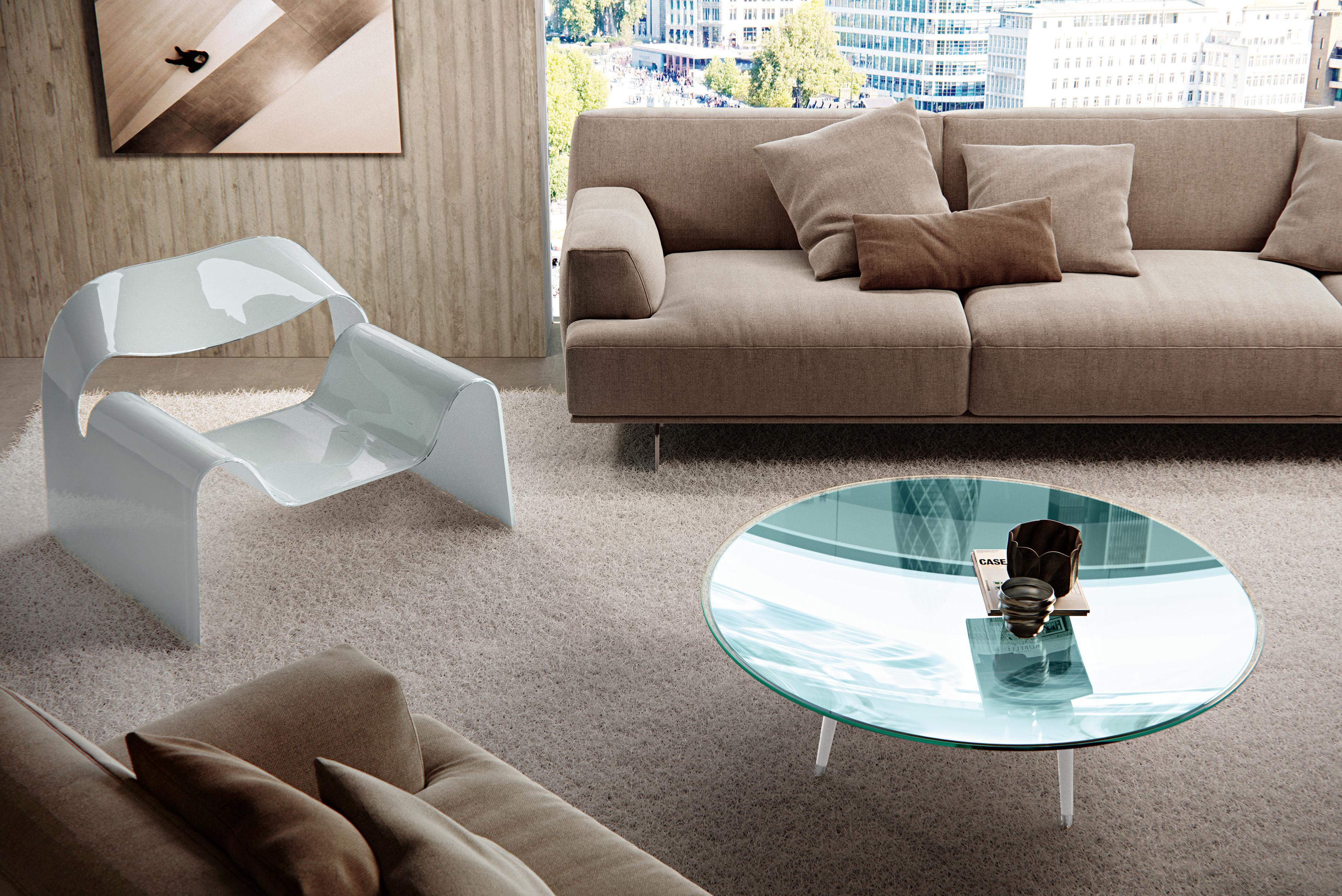 Exclusive Italian Ghost Lounge Chair Italian Designer & Luxury