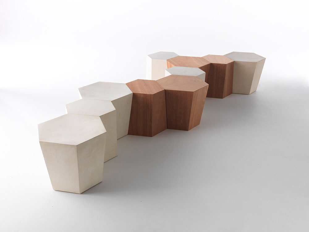 hexagon bench