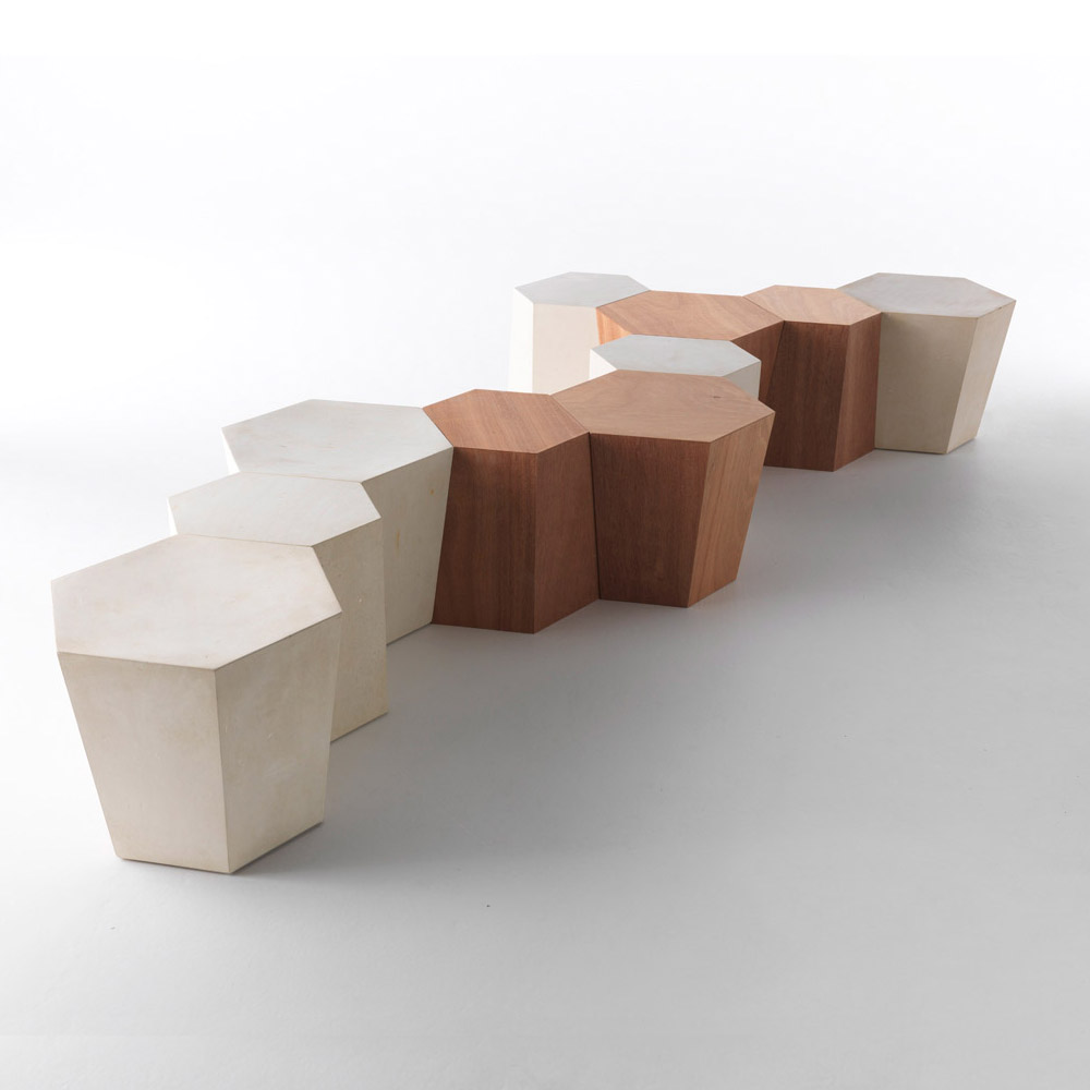 Hexagon Luxury And High End Side Table Italian Designer