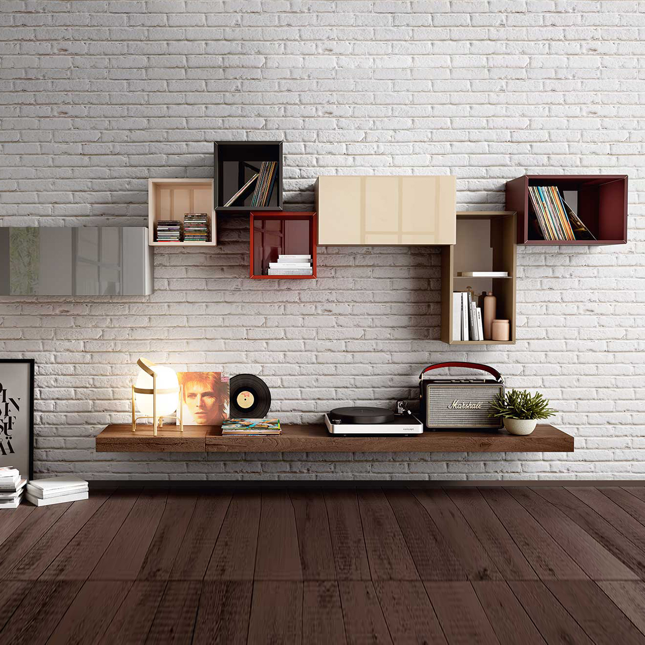Luxury Designer 36e8 Wall Unit Comp. 0373