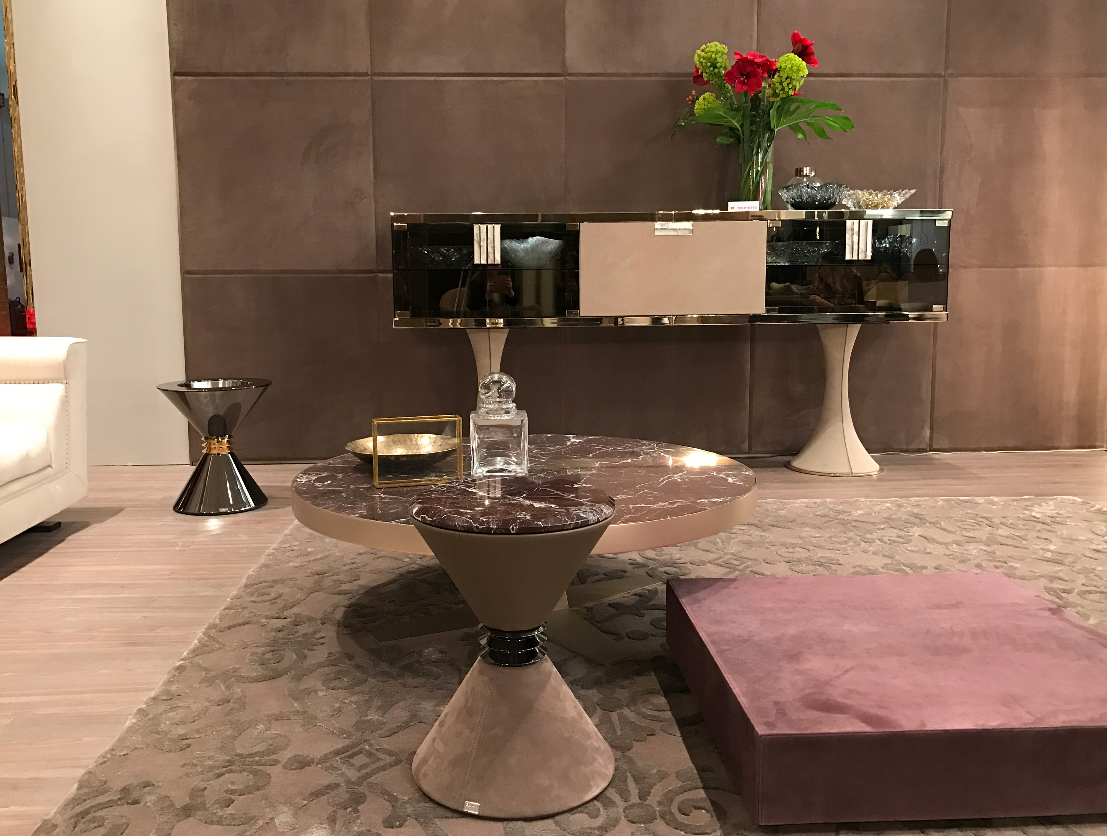 Italian Glamour Designer Angie Side Table Italian