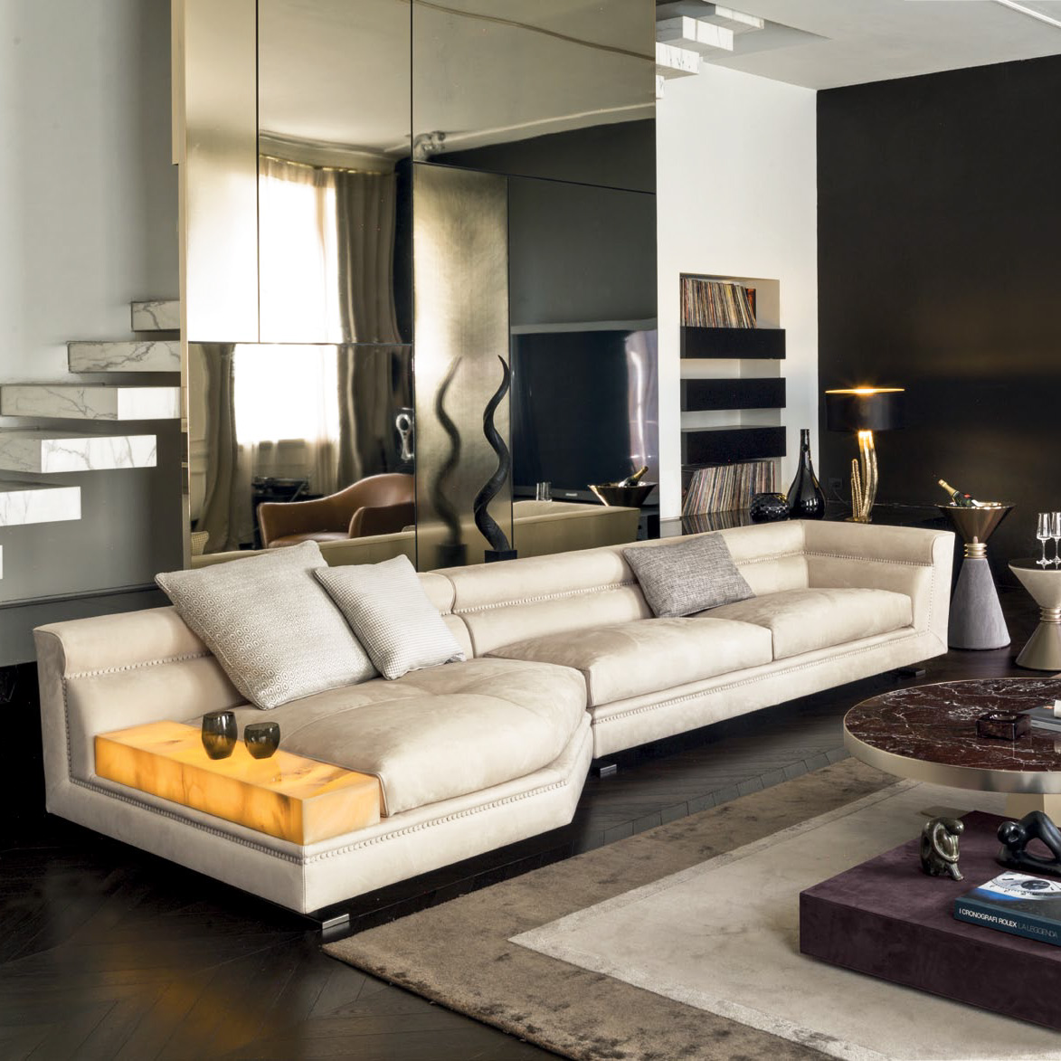 Ansel High End Italian Designer Sectional   Italian Designer U0026 Luxury  Furniture At Cassoni