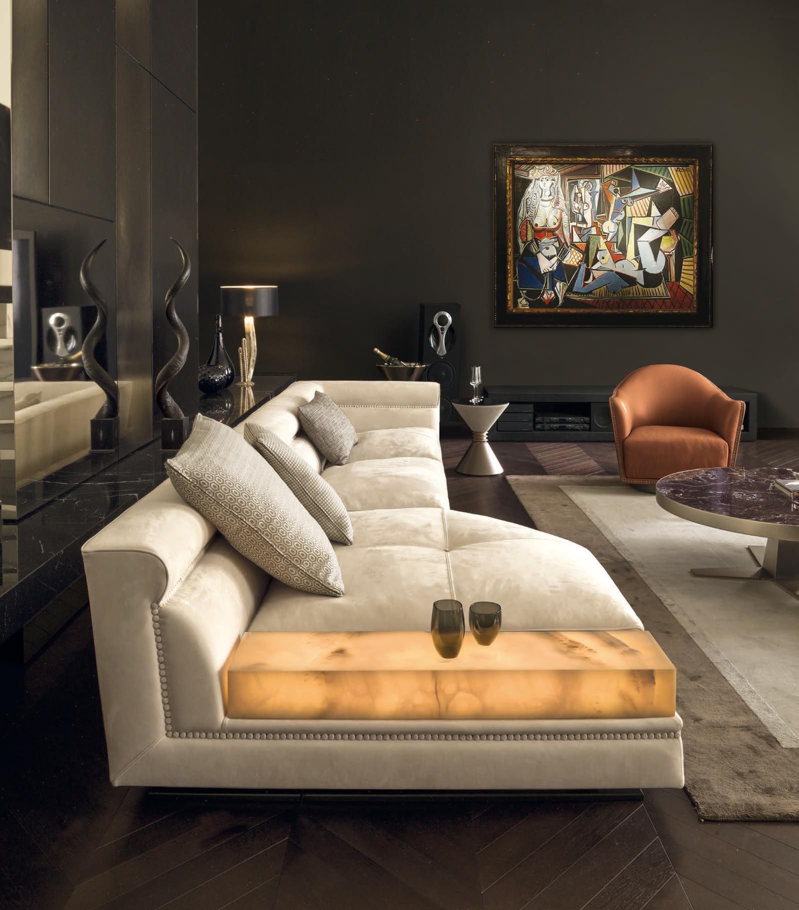 Ansel High end Italian Designer Sectional Italian Designer