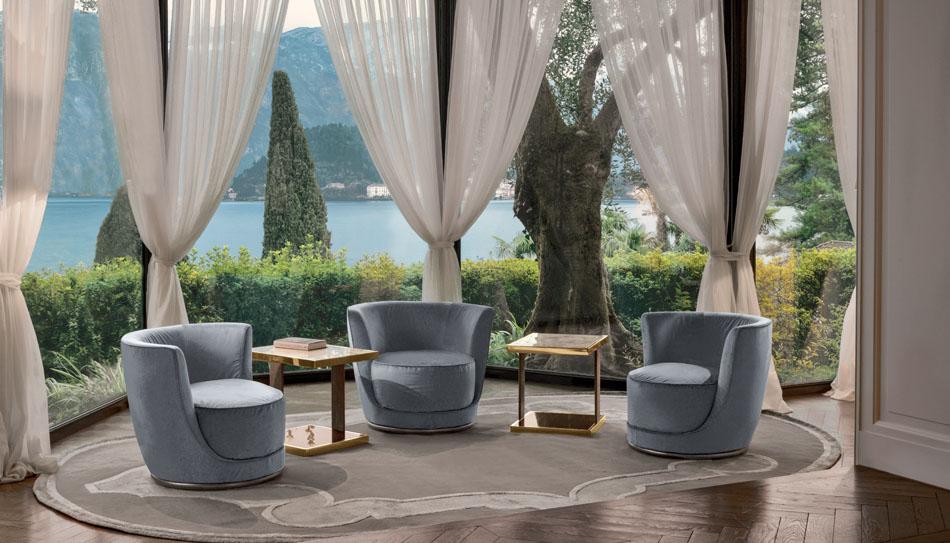 Laurent High End Italian Designer Lounge Chair Italian