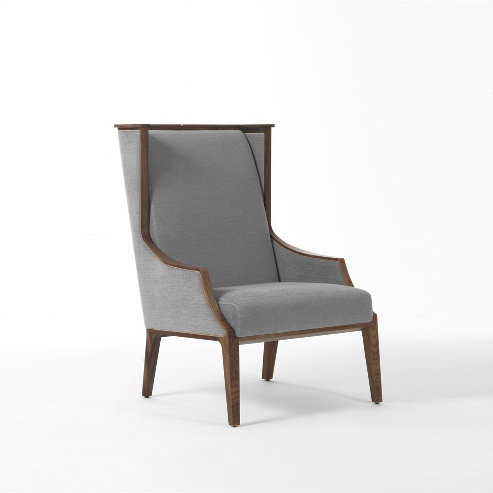 High End Italian Designer Liala Bergere Lounge Chair