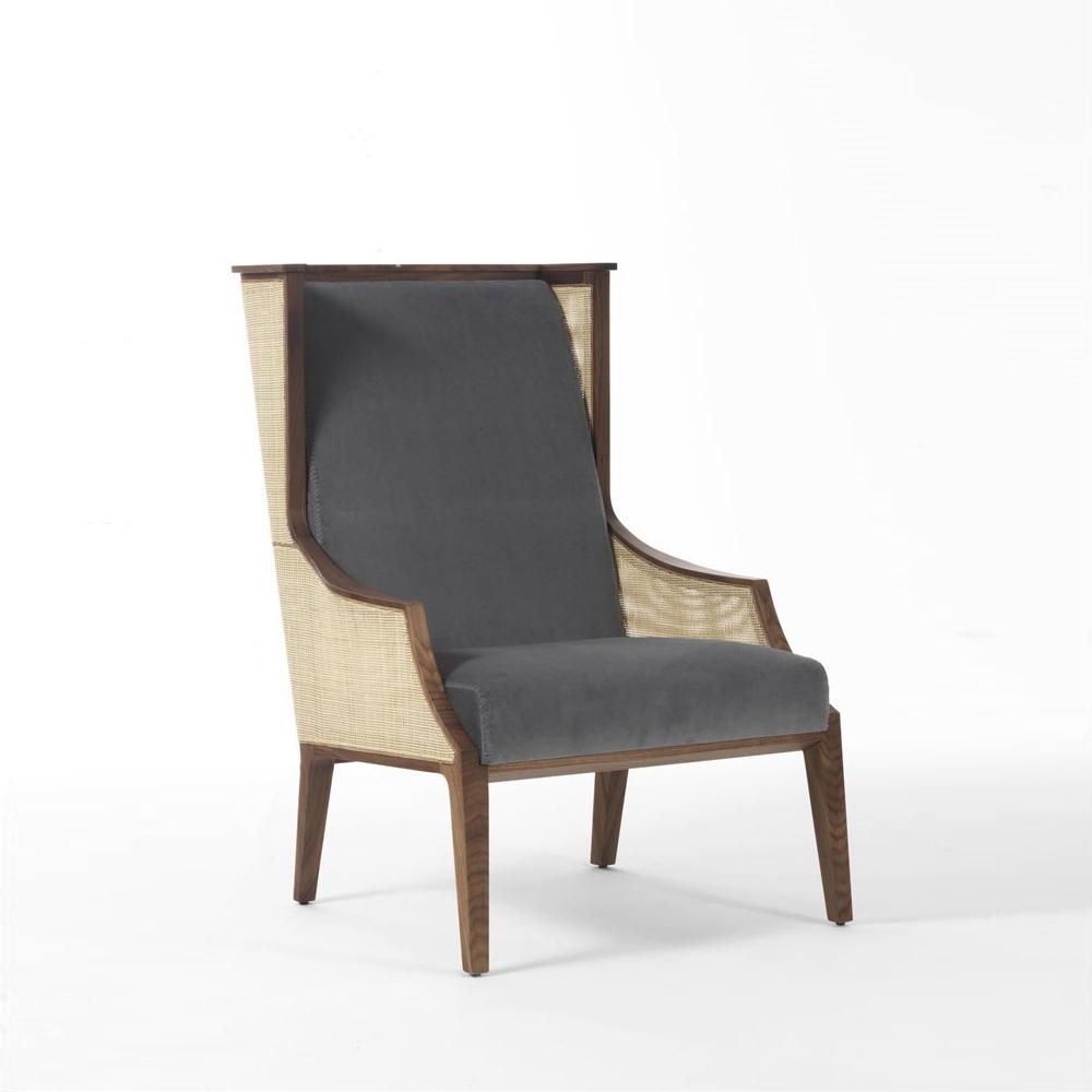 Liala Bergere Straw Lounge Chair ...