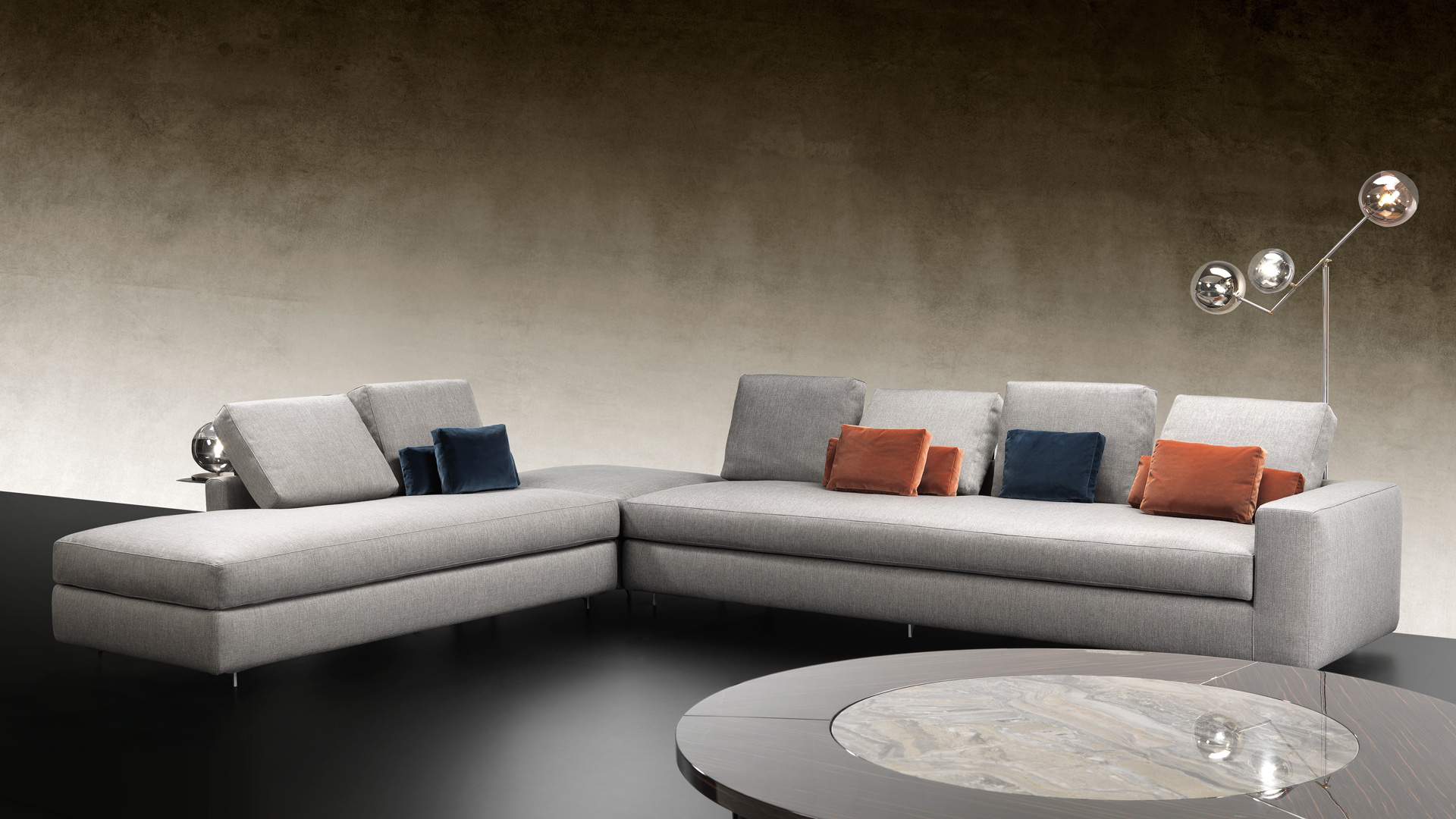 Contemporary Italian Designer Adone Sectional Italian