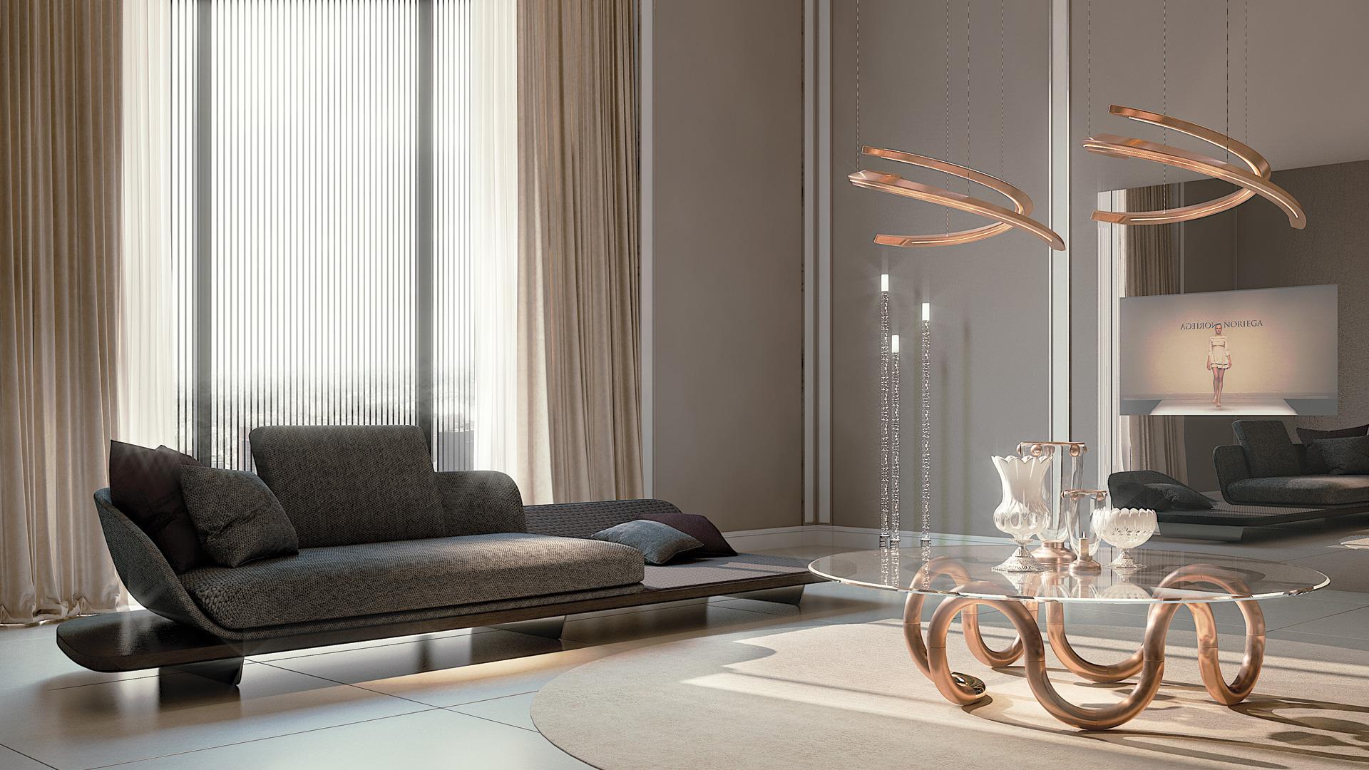 High End Italian Segno Chaise Lounge Italian Designer