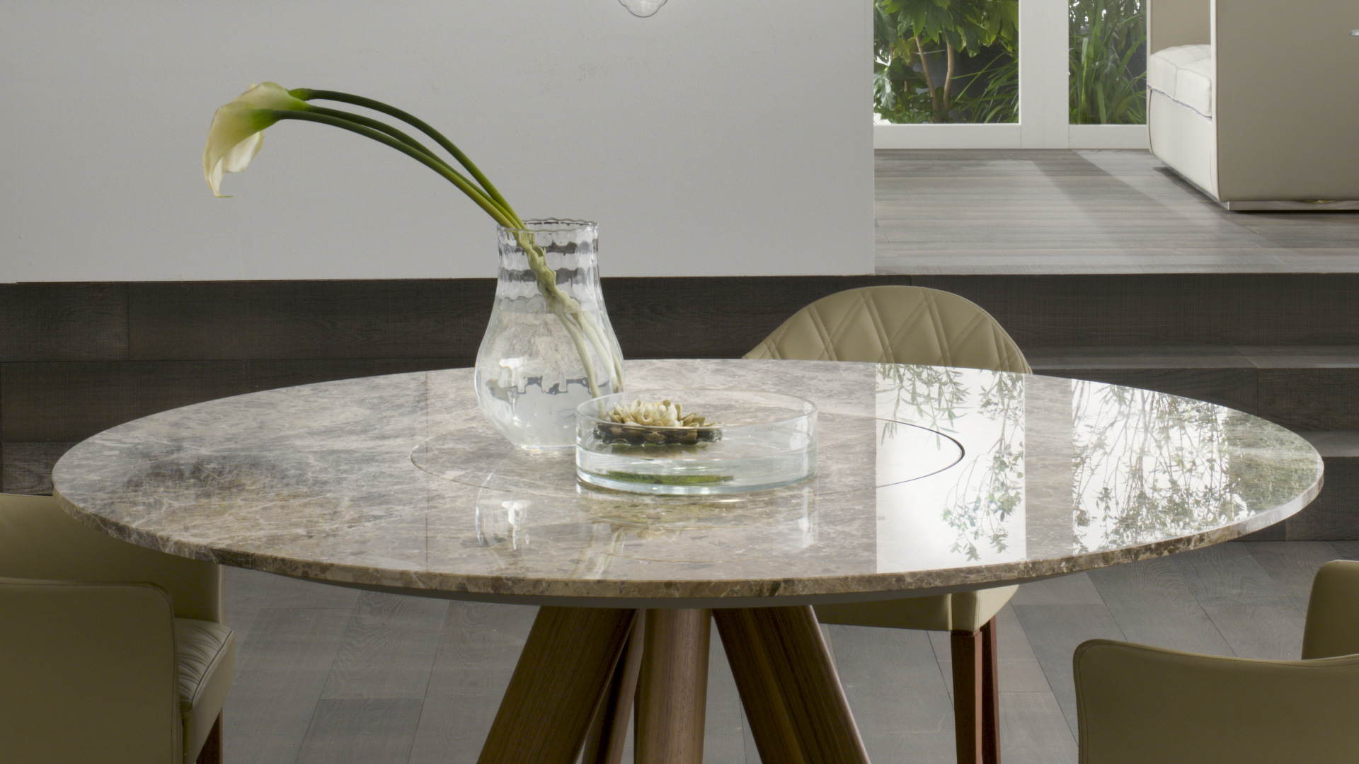 lem with lazy susan table