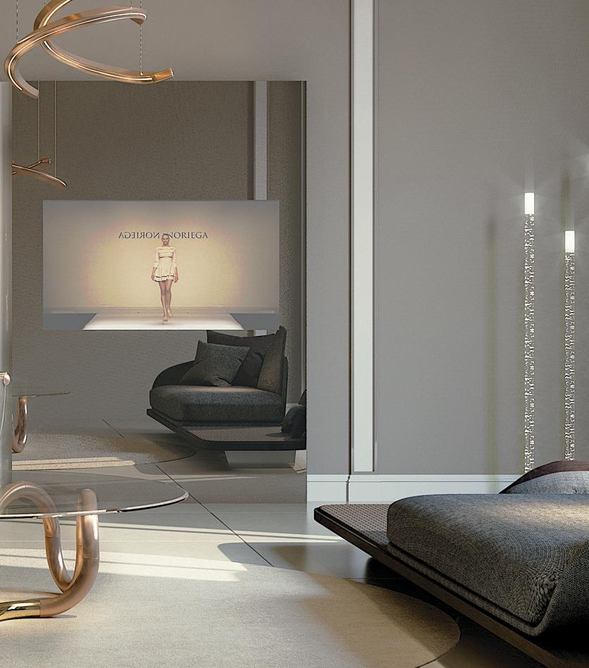 High-End Italian Designer Movie Porta TV Mirror - Italian Designer ...