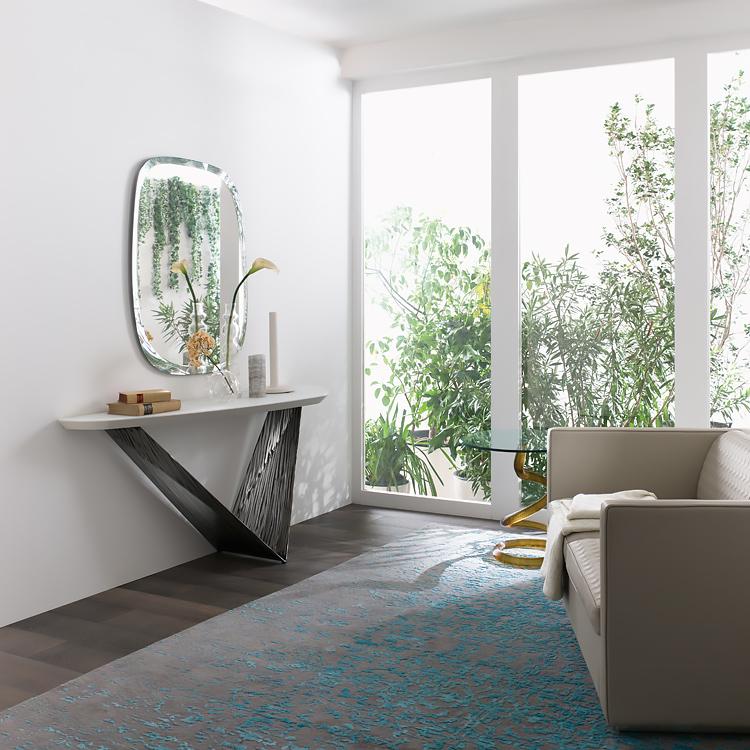 luxury prisma steel contemporary italian console italian designer luxury furniture at cassoni. Black Bedroom Furniture Sets. Home Design Ideas