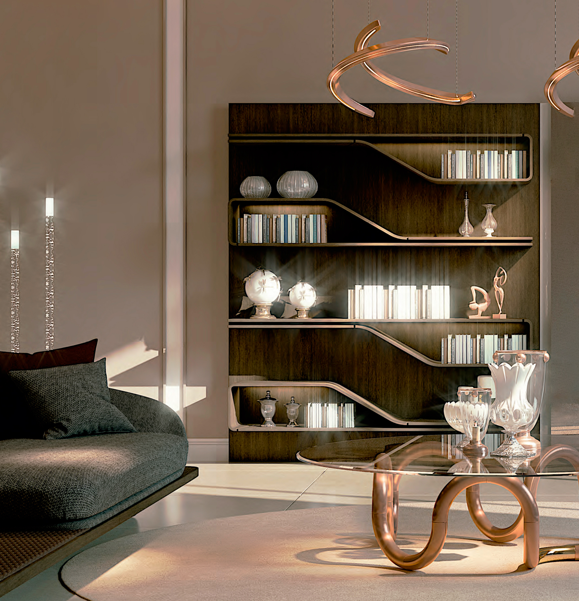 Segno italian designer bookcase italian designer for High end catalogs for home decor