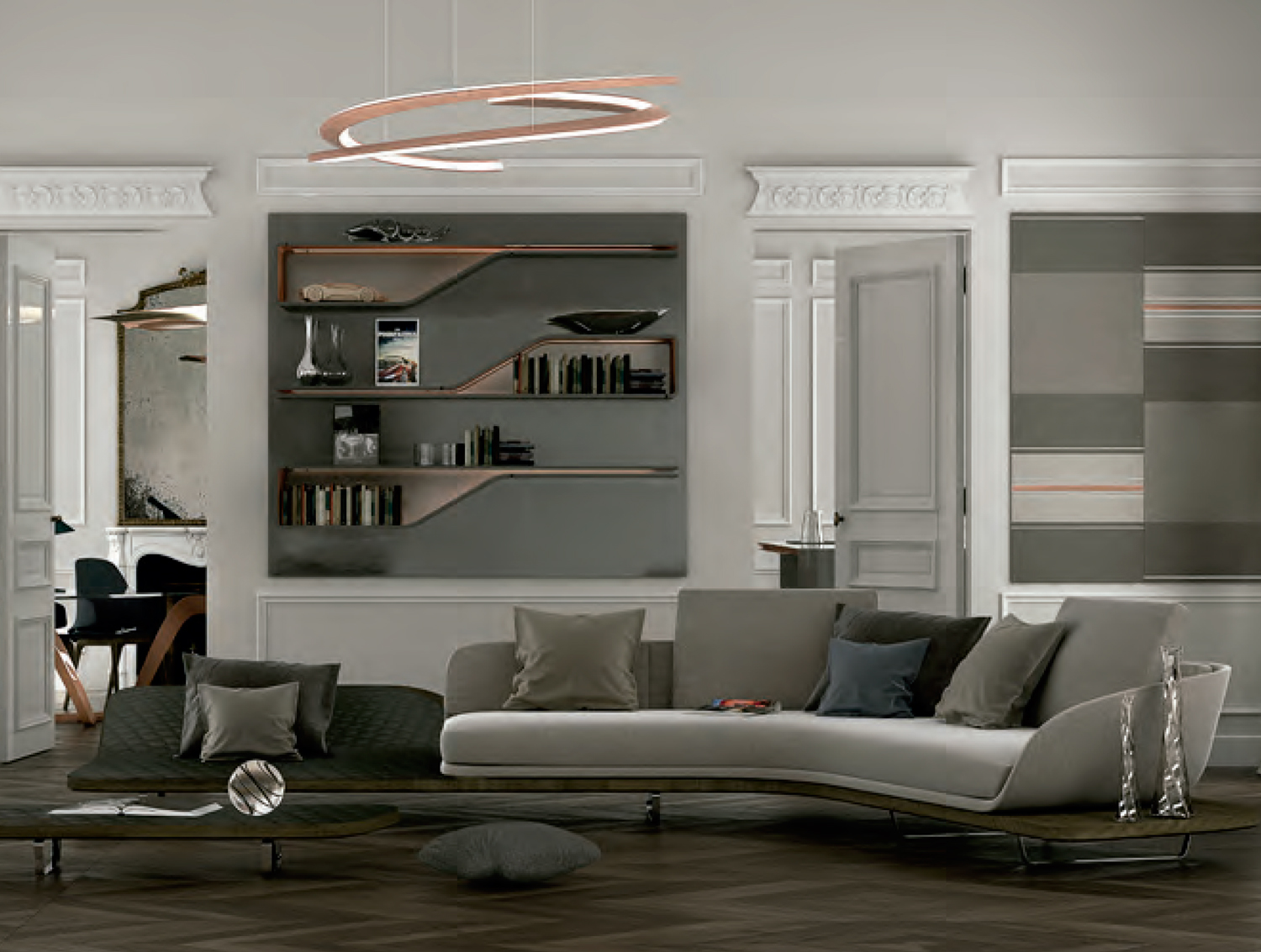 Segno luxury contemporary shelf italian designer for High end catalogs for home decor