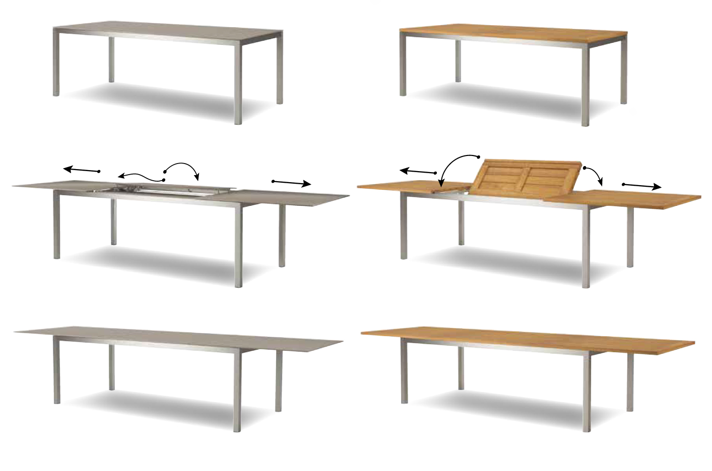 Taboela extendable table for Table extensible 20 couverts