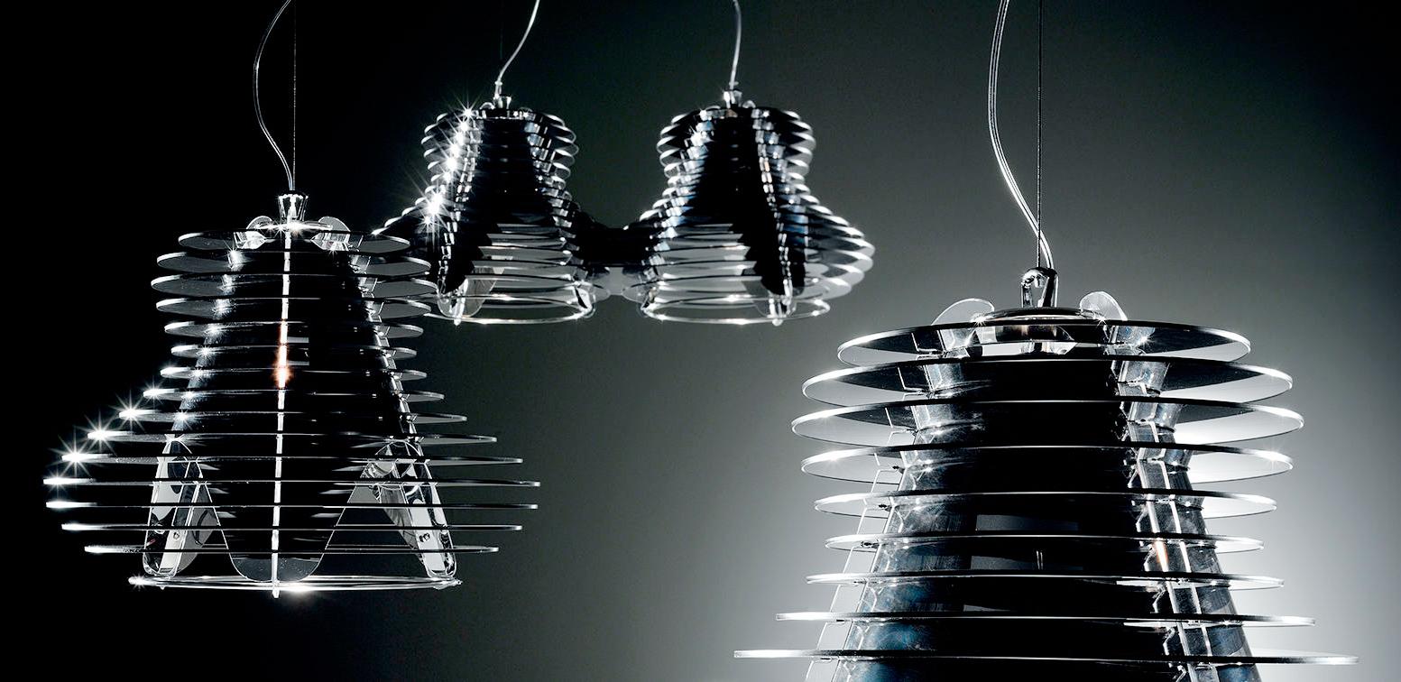 Faretto double suspension lamp for Suspension double