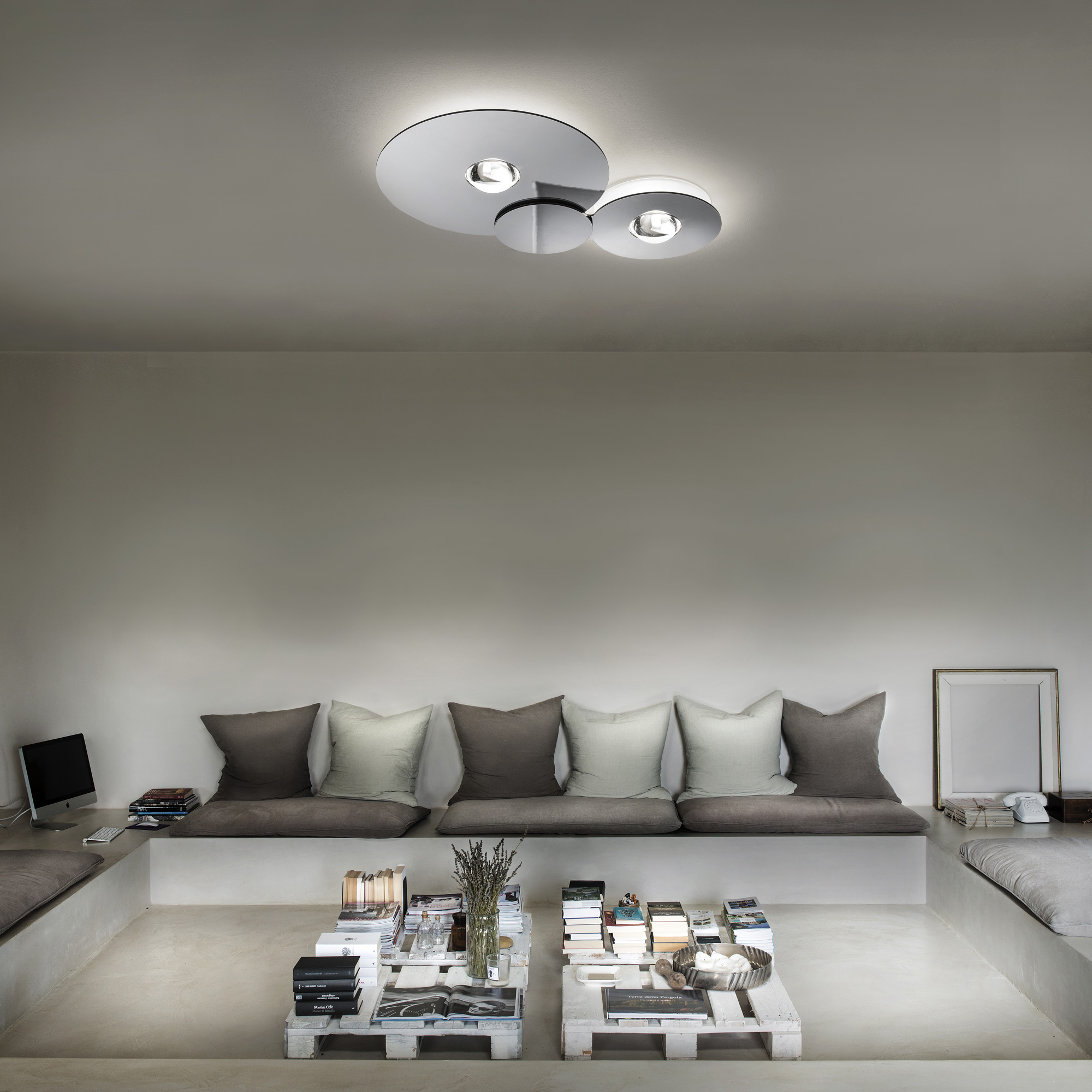 Modern High End Italian Designer Bugia Ceiling Lamp