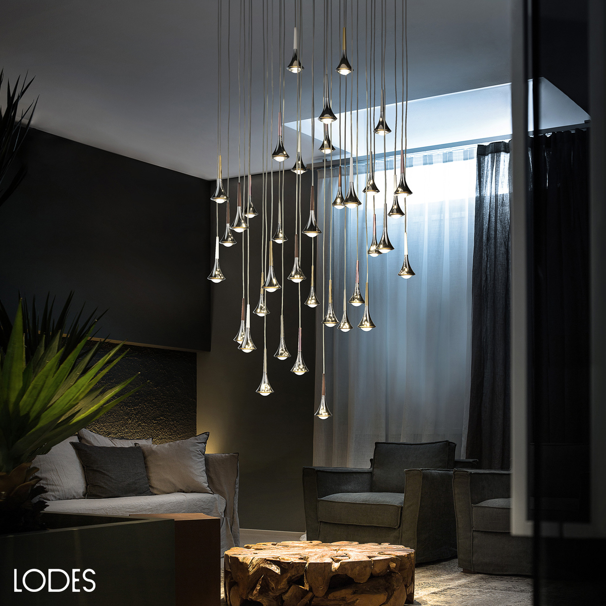 Luxury Italian Designer Rain Suspension Lamp Designer