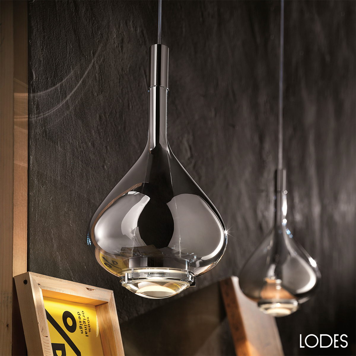 Luxury italian designer sky fall suspension lamp for Suspension designer