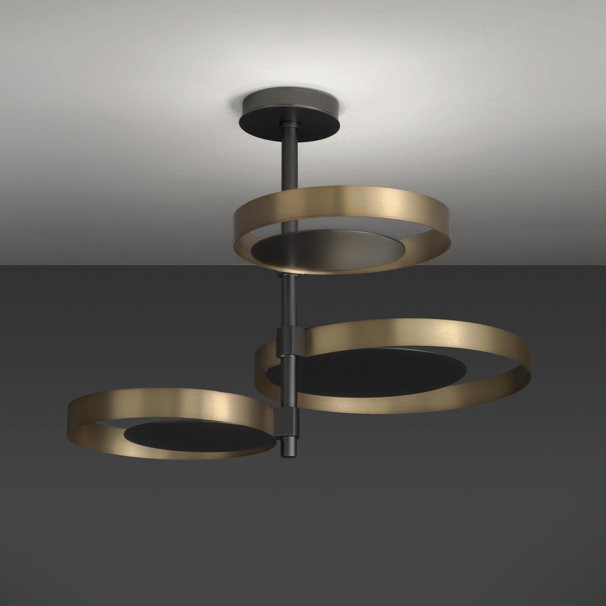 Luxury High End Italian Designer Circle Ceiling Lamp