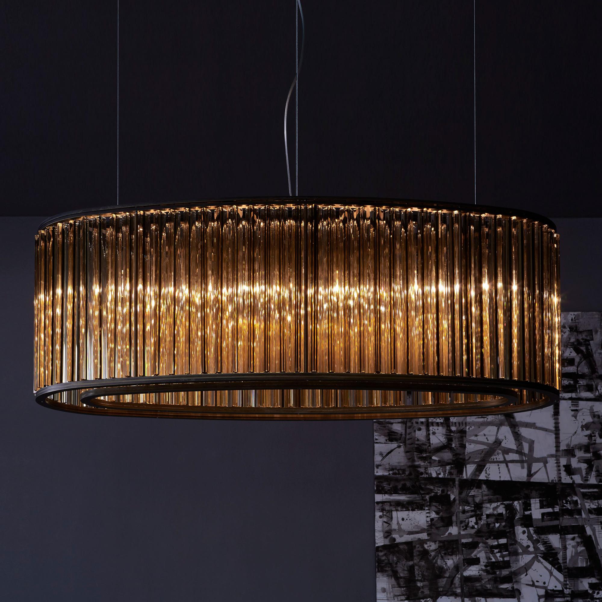 Luxury high end italian designer crown suspension lamp for High end designer lighting