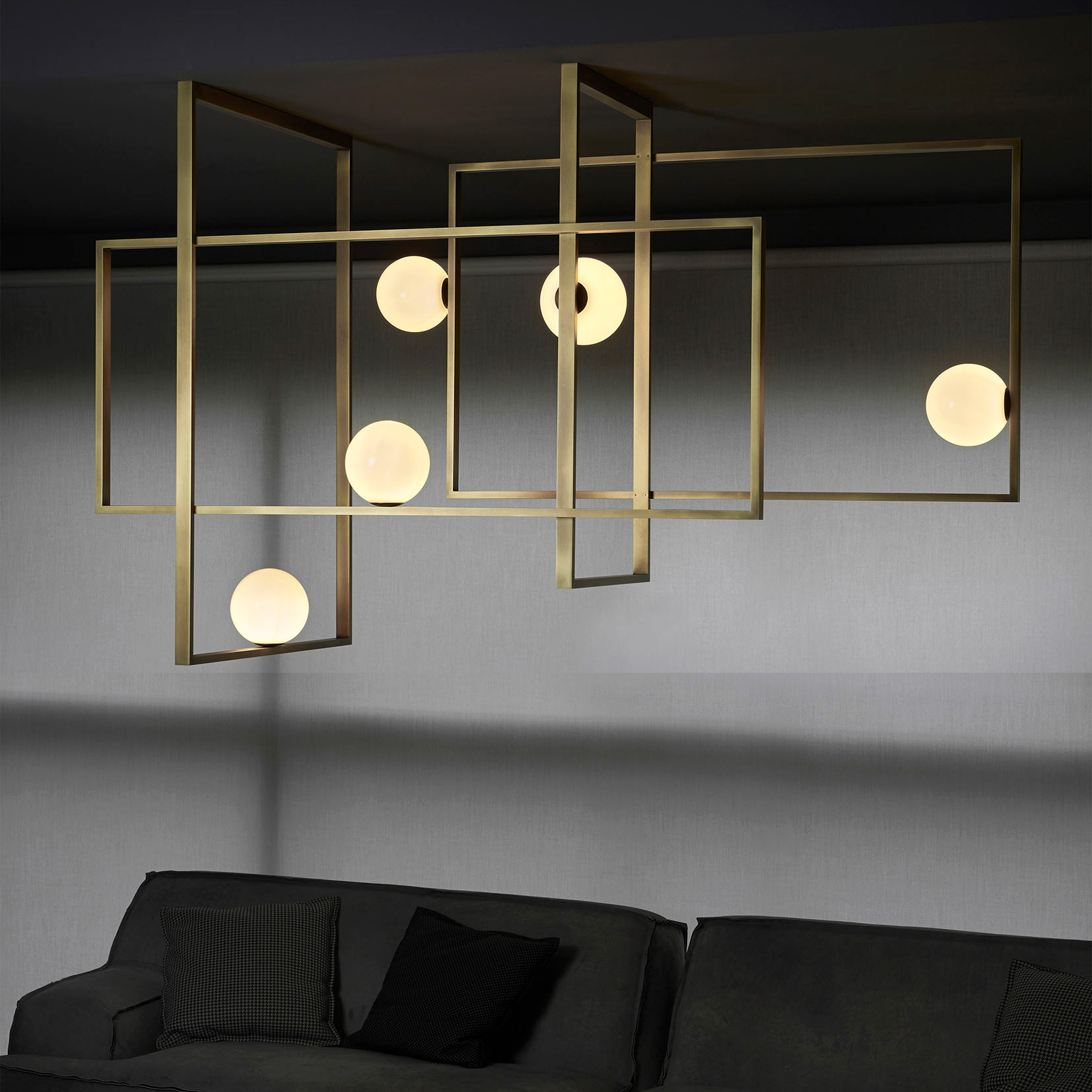Luxury High End Italian Designer Mondrian Ceiling Lamp