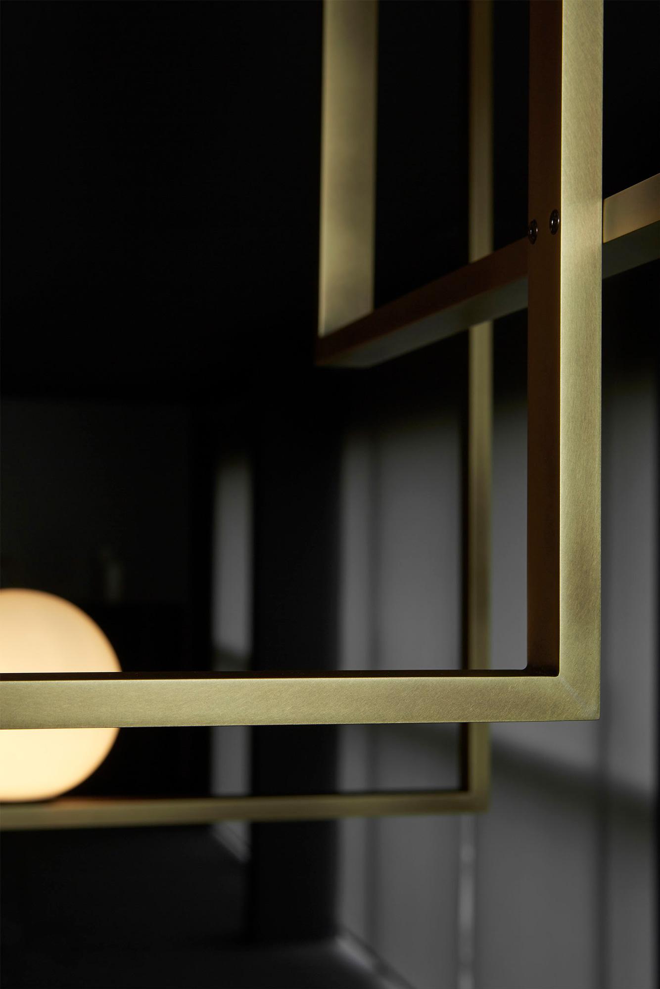 Luxury High End Italian Designer Mondrian Ceiling Lamp